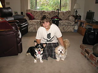 Miles & the dogs Aug 08
